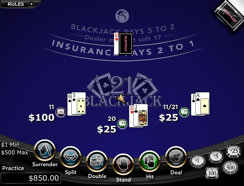Slots.lv Casino Blackjack