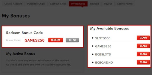 free casino money bovada codes