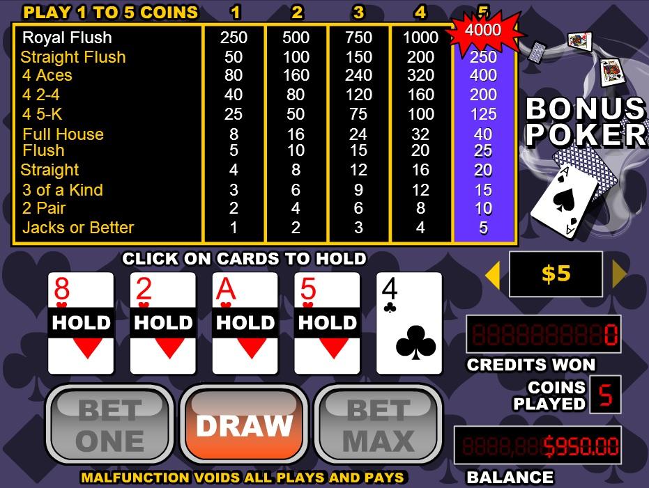 Slots.lv Casino Video Poker