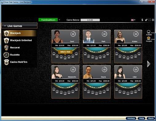Silver Oak Casino Live Dealer