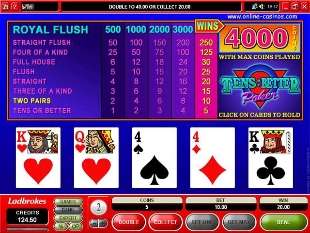 casino ladbrokes video poker